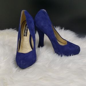 Naughty Monkey royal blue and sparkle heels